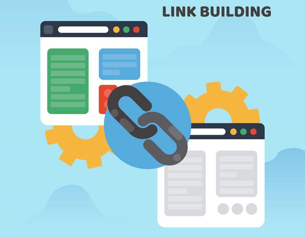 Backlinks between two sites illustration