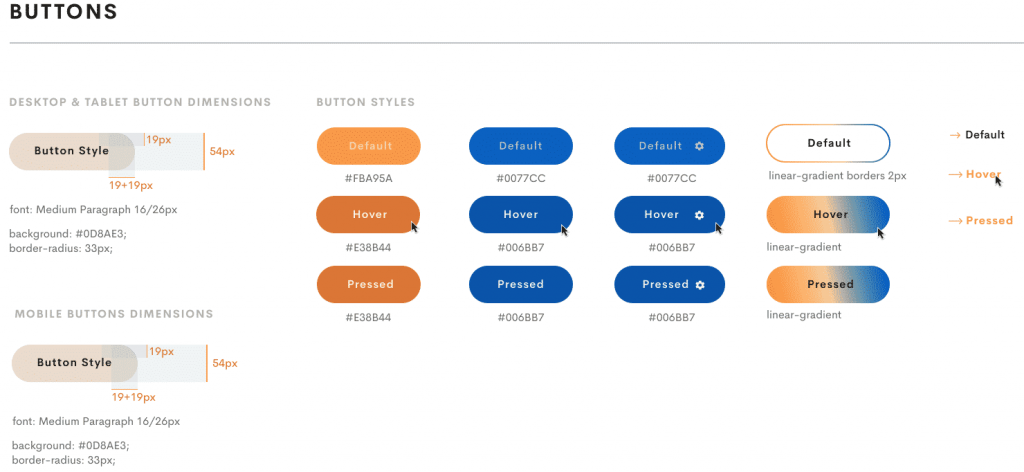 buttons style
