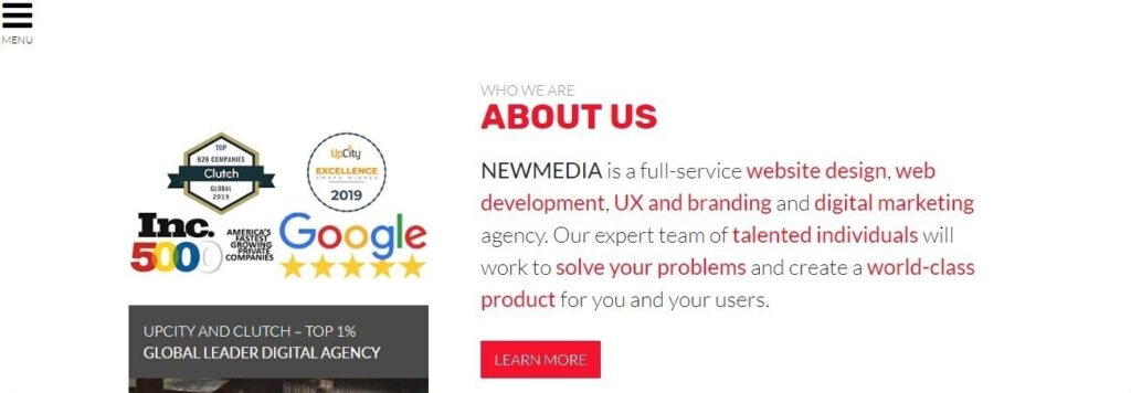 NEWMEDIA website screenshot