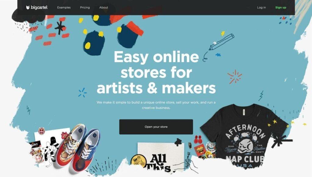 Big Cartel website screenshot Best Ecommerce Platforms