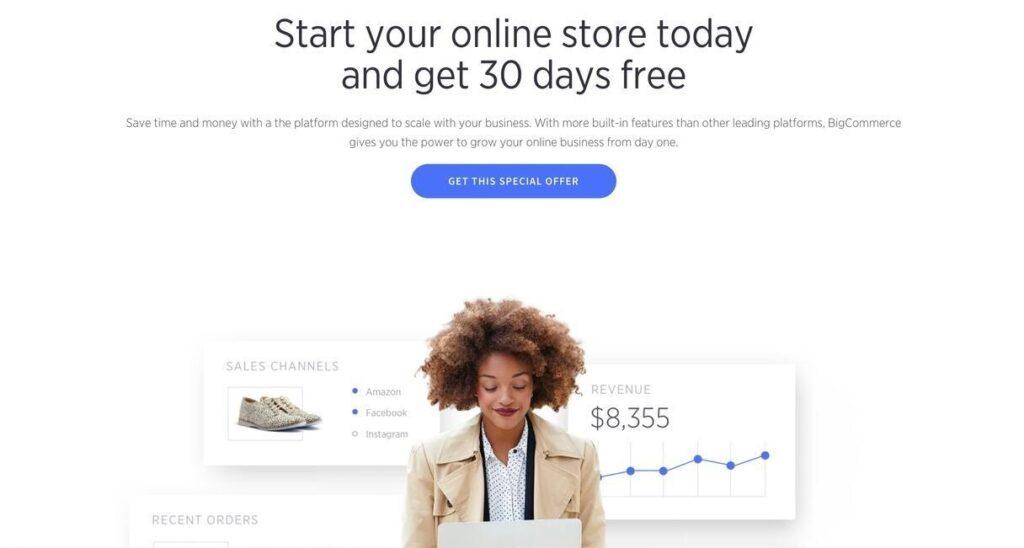 BigCommerce website screenshot Best Ecommerce Platforms
