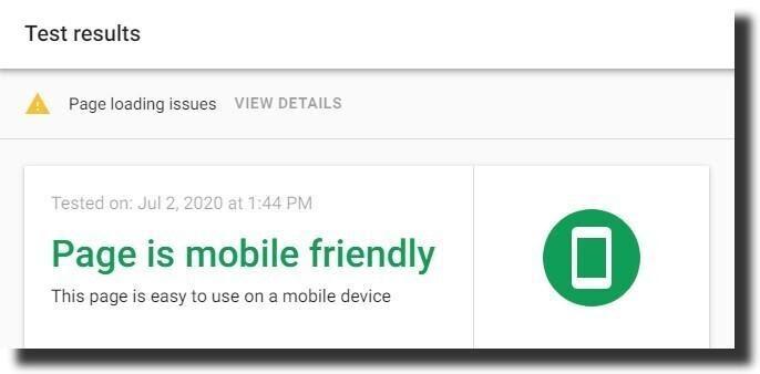 mobile friendly check