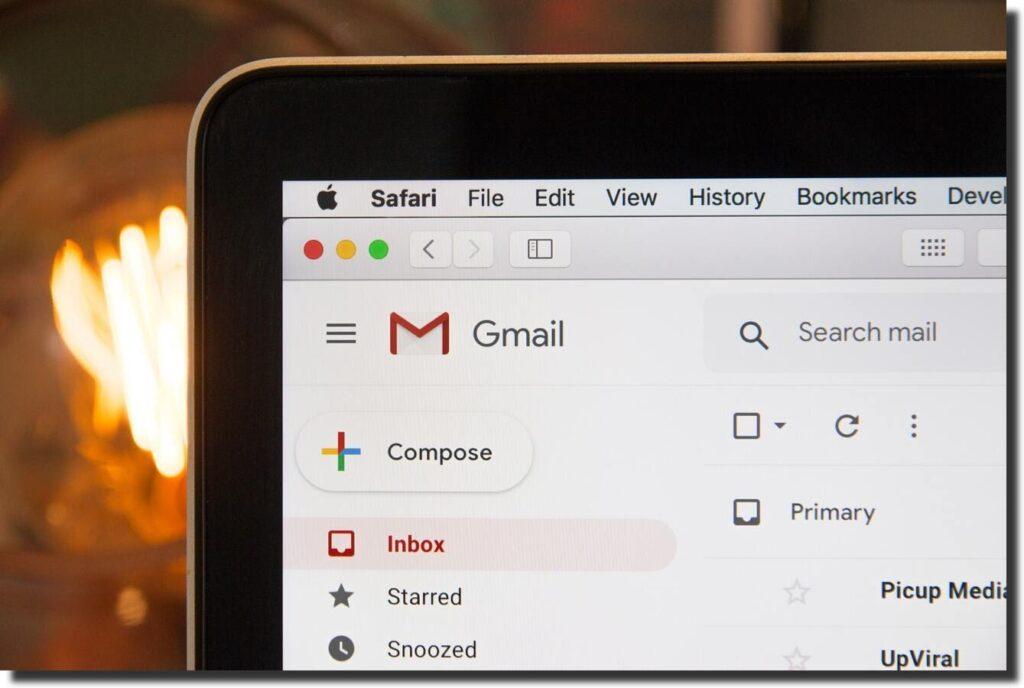 screenshot gmail website redesign