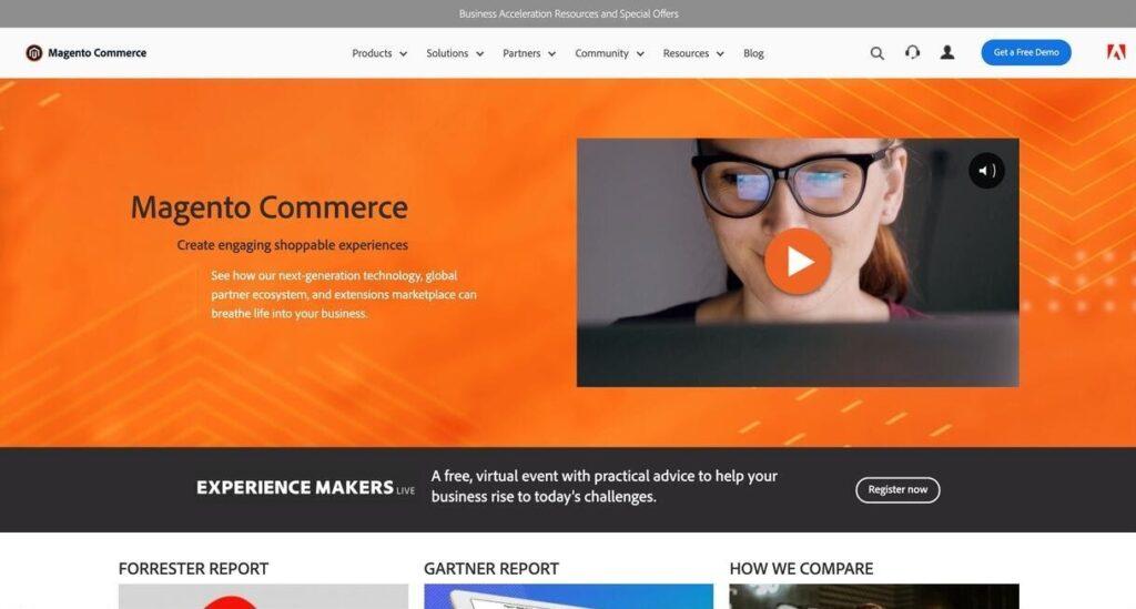 magento website screenshot