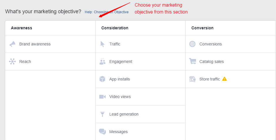 What's your marketing objective