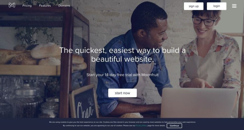 MoonFruit website screenshot Best Ecommerce Platforms
