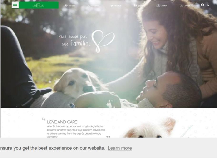 Dr. Mauro`s clinic website screenshot