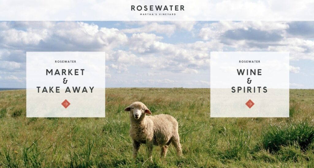 Rosewater Martha's Vineyard website screenshot