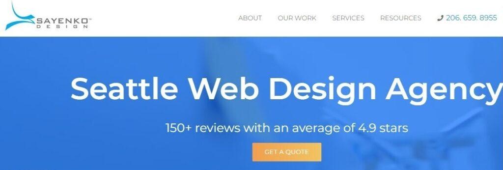 sayenko design website screenshot