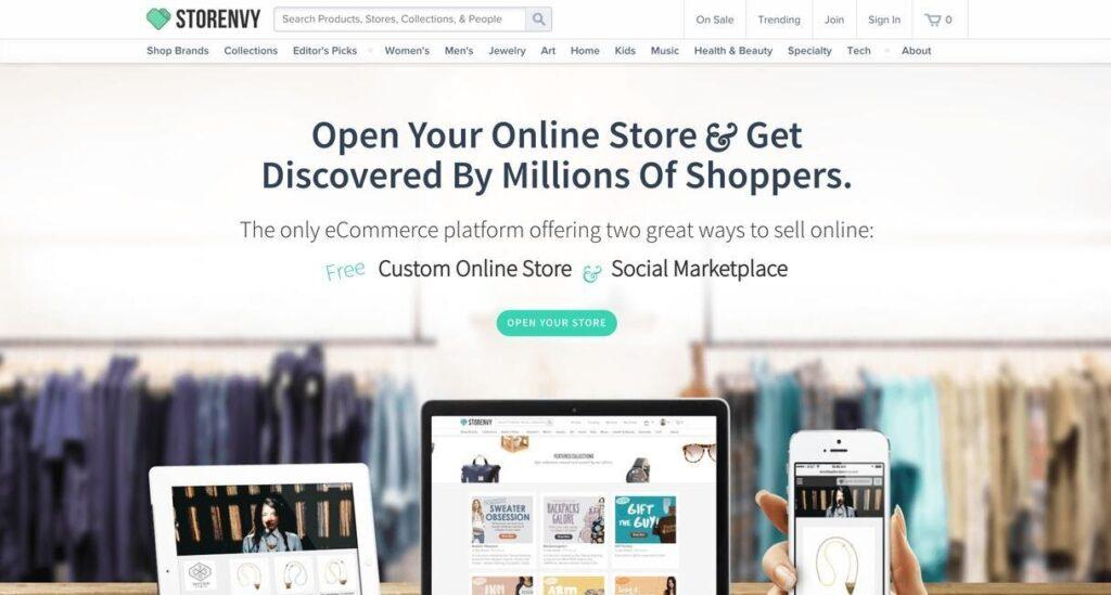 Storenvy website screenshot