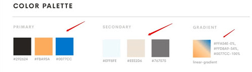 style guide colors Importance of Web Design