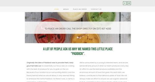 Paddock website screenshot