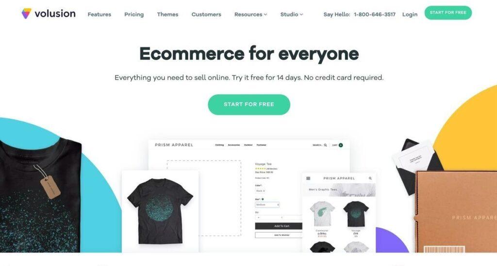volusion website screenshot Best Ecommerce Platforms