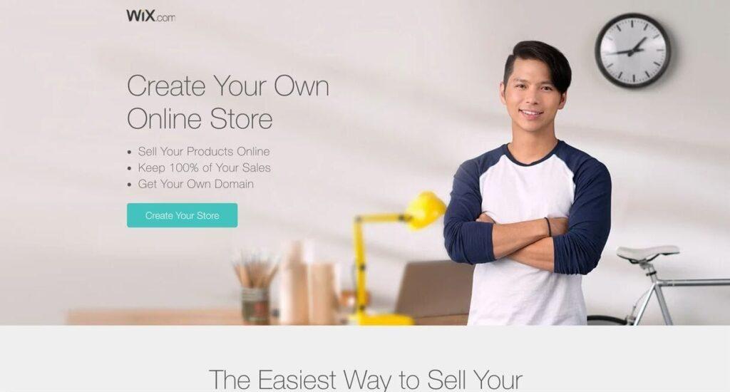 wix website screenshot Best Ecommerce Platforms