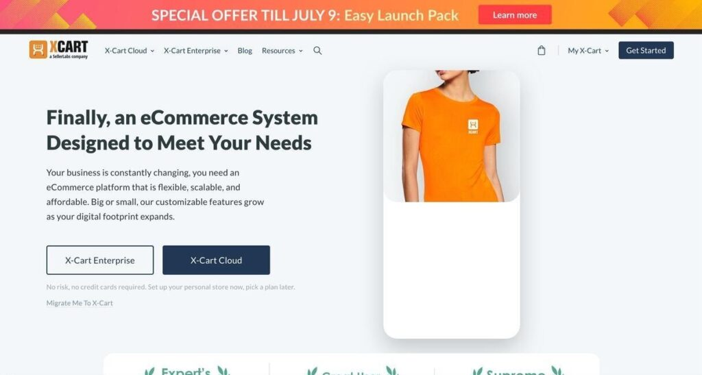 xcart website screenshot Best Ecommerce Platforms
