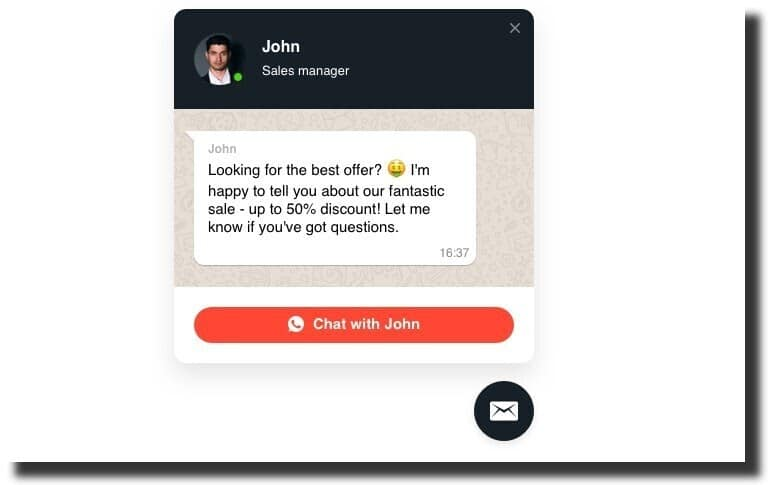 WhatsApp Chat Squarespace Plugin