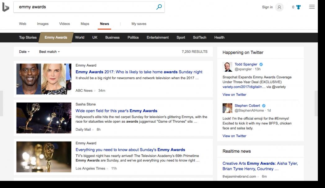 bing search screenshot emmy awards