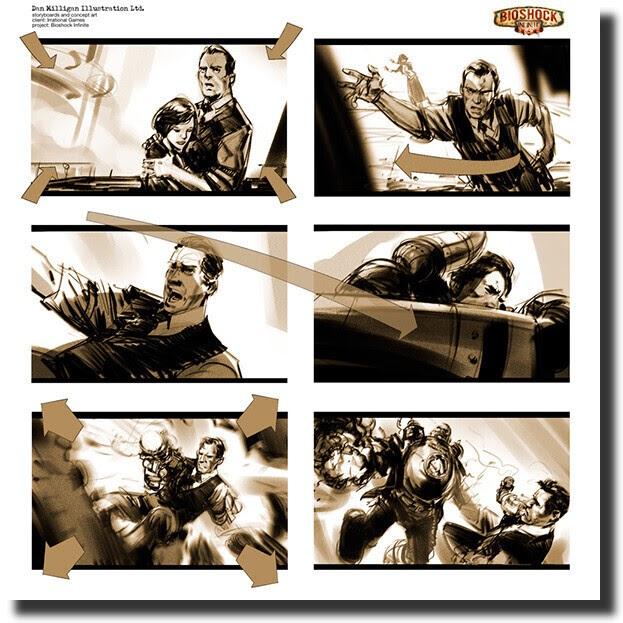 BioShock Infinite storyboard
