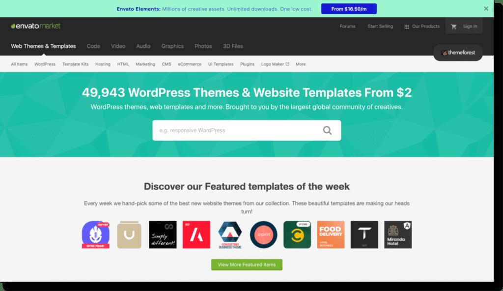 envato website templates