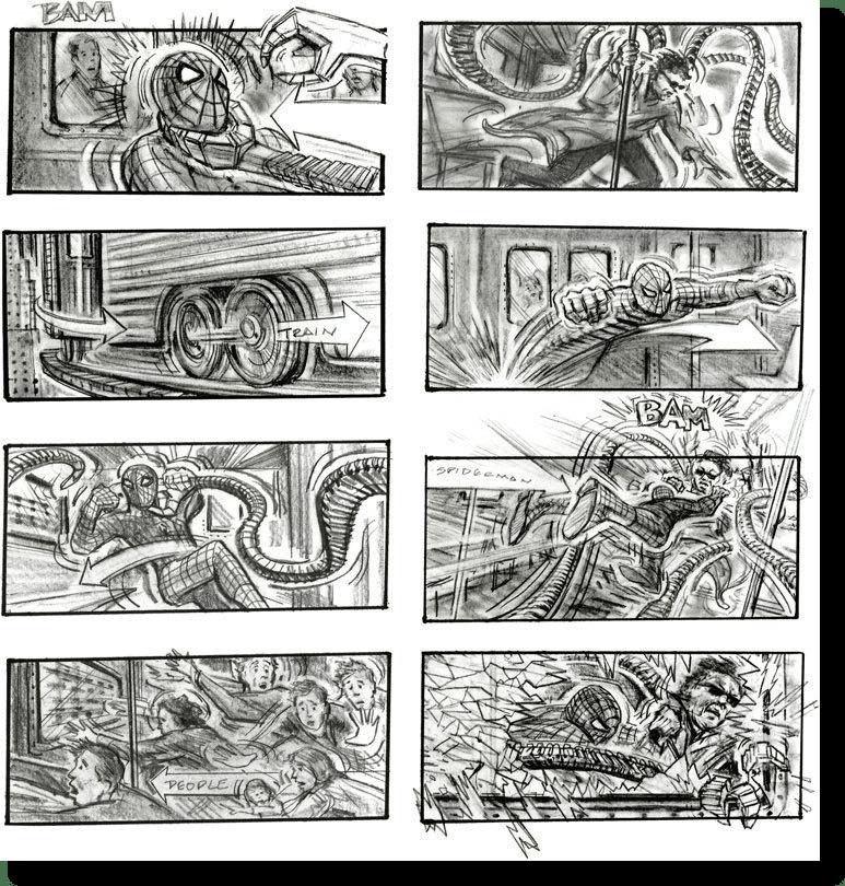 spiderman storyboard