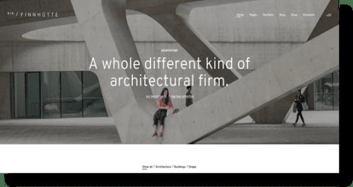 Finnhütte architecture theme