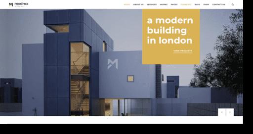 modrox architecture theme