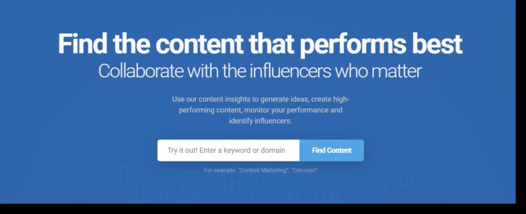 BuzzSUmo social media analytics tool