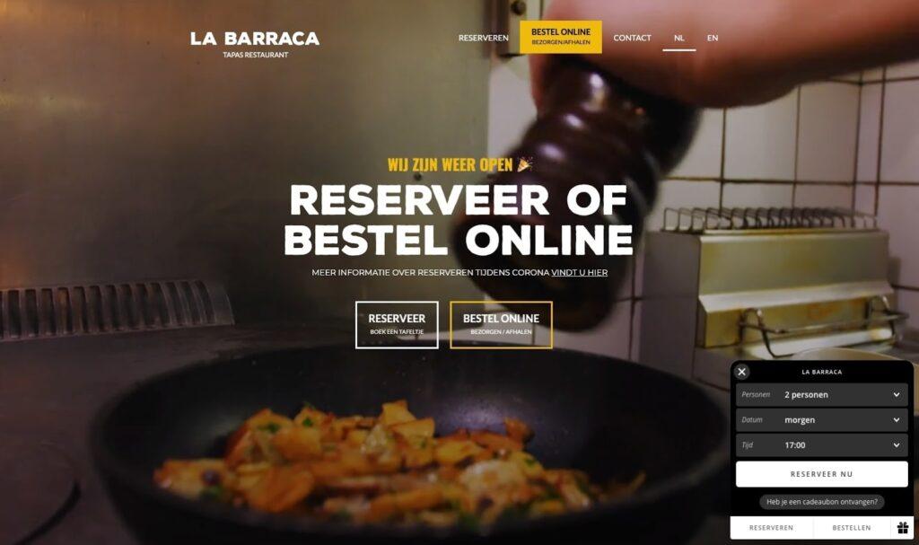 La Barraca restaurant web design