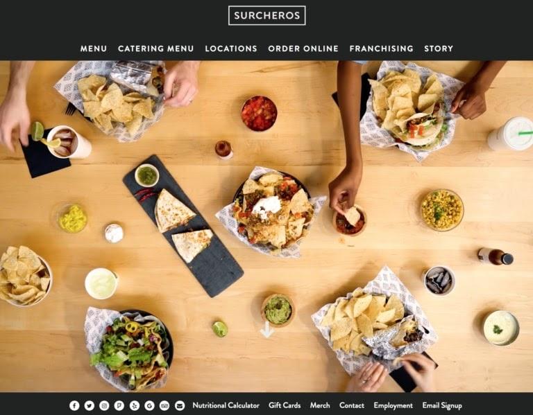 Surcheros restaurant web design