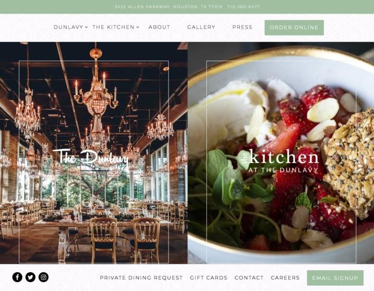 Dunlavy web restaurant