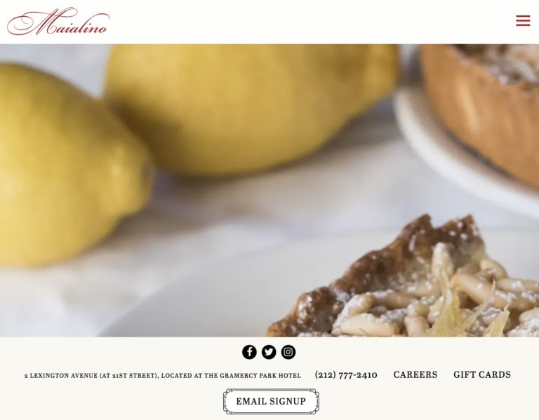 Maialino restaurant