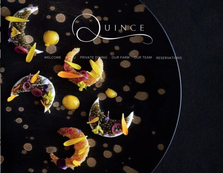 Quince web restaurant