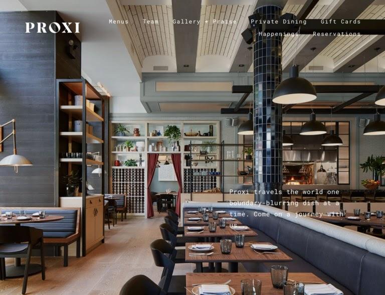 Proxi web restaurant
