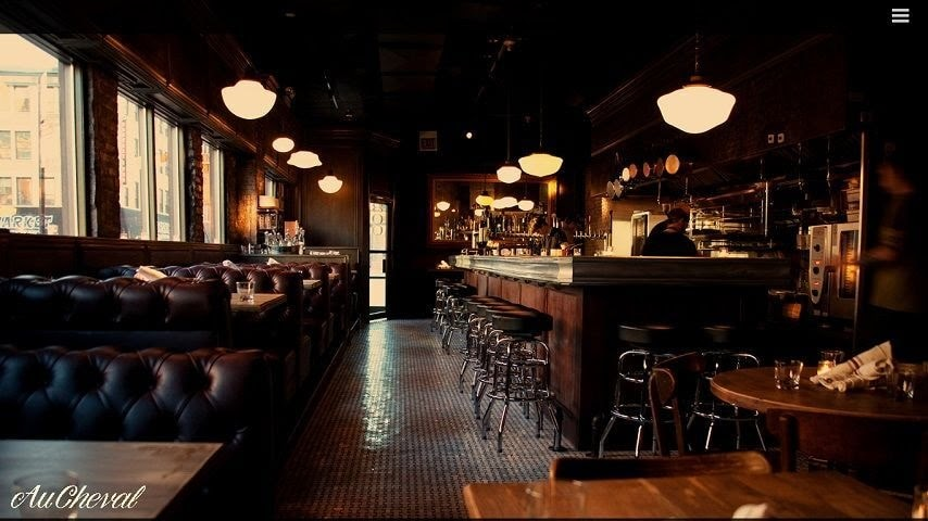 Au Cheval web restaurant