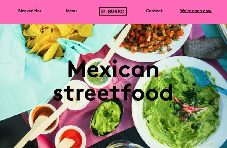 El Burro web restaurant