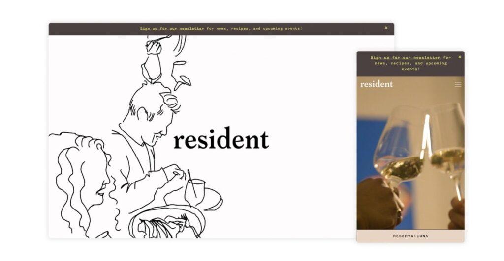 Resident web restaurant