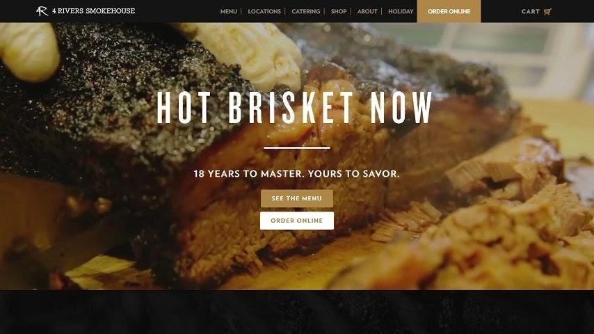 4 Rivers Smokehouse web restaurant