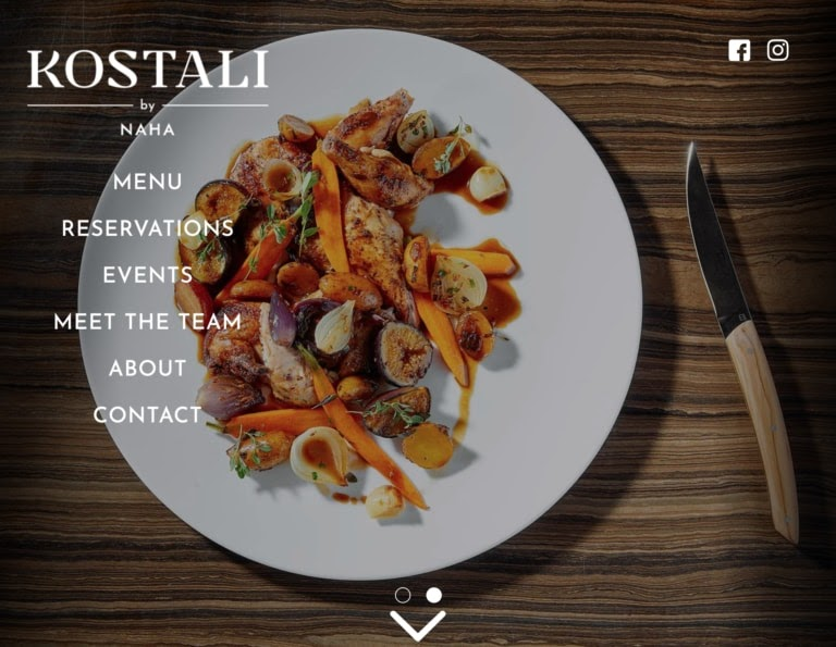 Kostali by Naha web restaurant