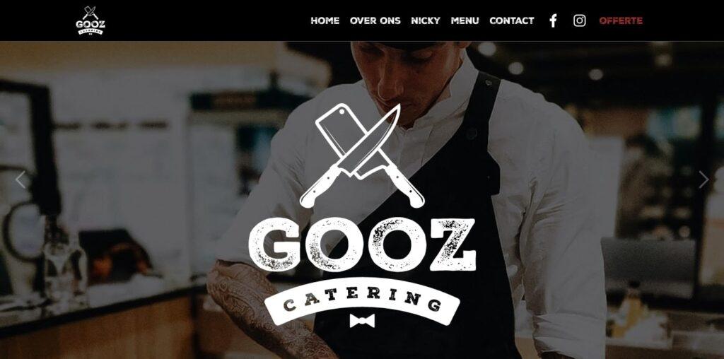 Gooz Catering web restaurant