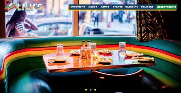Miss Lily's web restaurant