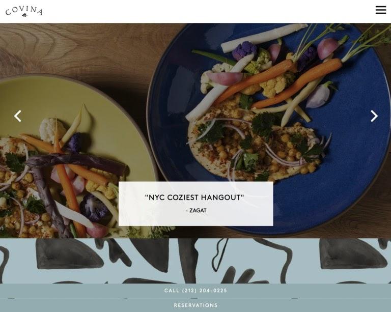 covina restaurant web design