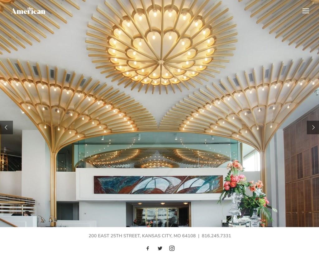 The American Restaurant web design