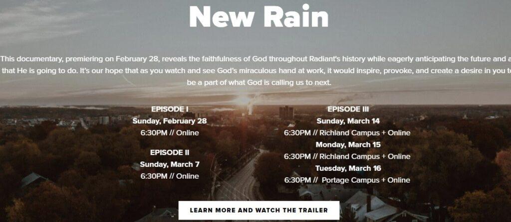 Radiant Church website