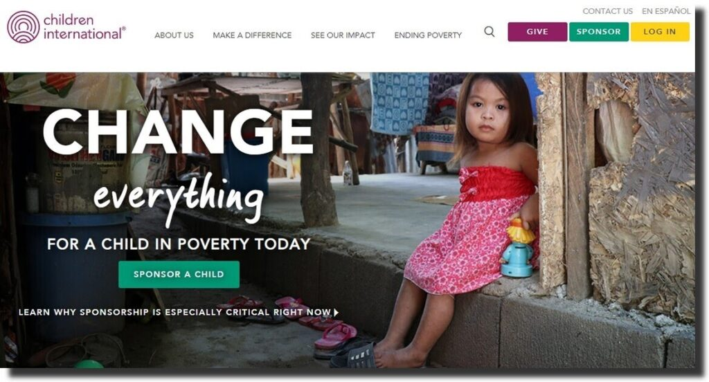 Children International Nonprofit Website