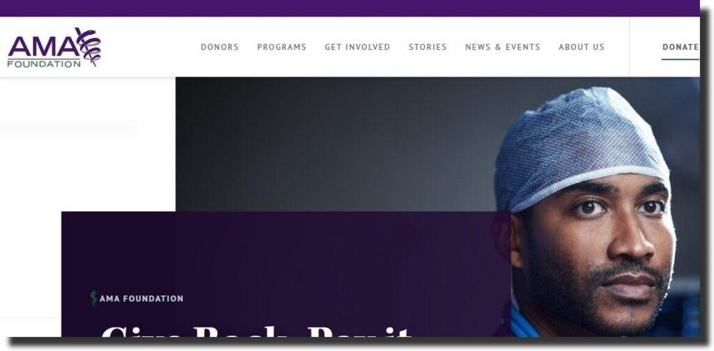 AMA Foundation Nonprofit Website