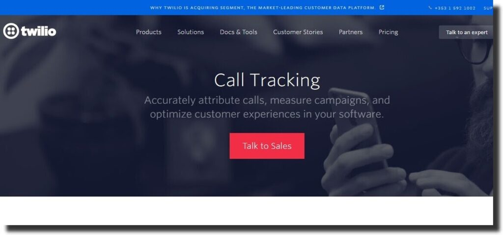 Twilio call tracker