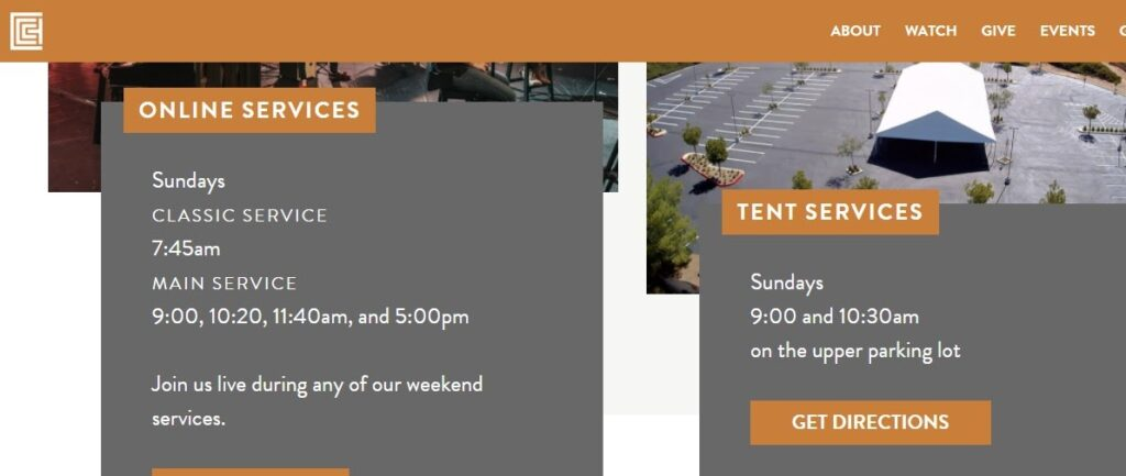 Cornerstone Community Church website