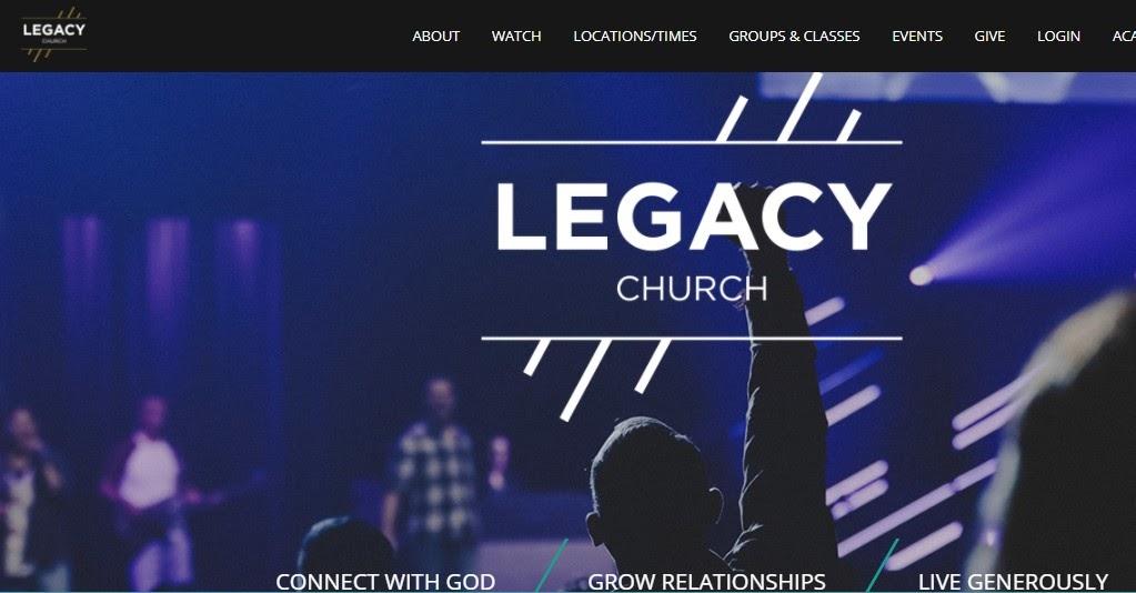 Legacy Church website