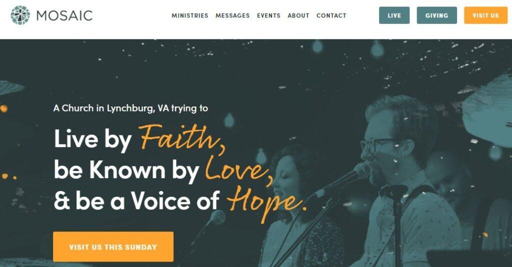 Mosaic church website