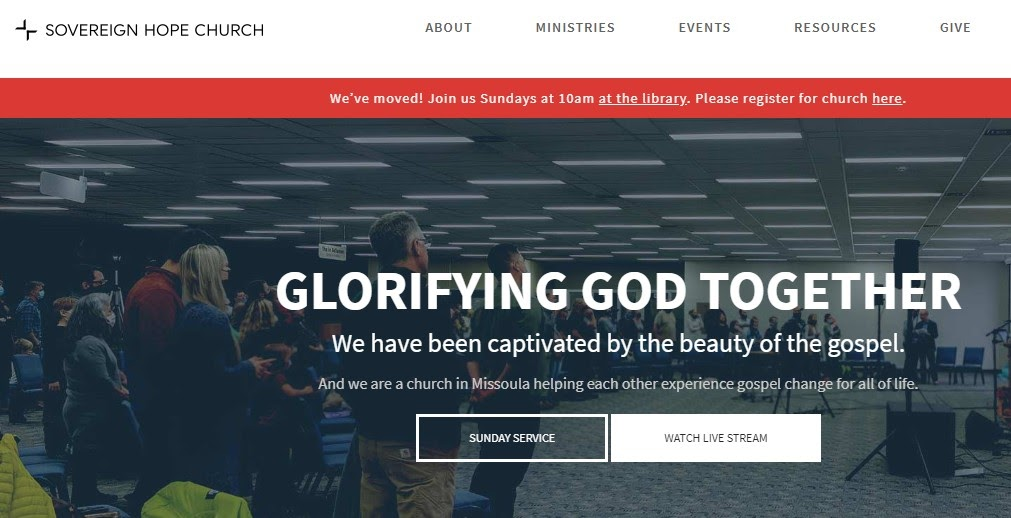 Sovereign Hope Church website